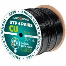 Кабель LogicPower Cat.5e UTP 4x2x0.50mm. CU 305м.