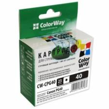 Картридж ColorWay Canon PG40 bl. CW-CPG40